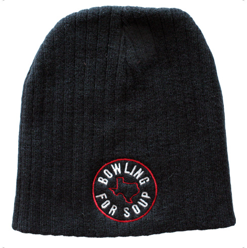 Embroidered Logo (Black / Red) - Bobble Hat