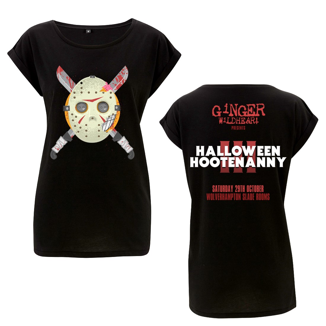 Halloween Hootenanny III Event – Girls Roll Sleeve Tee