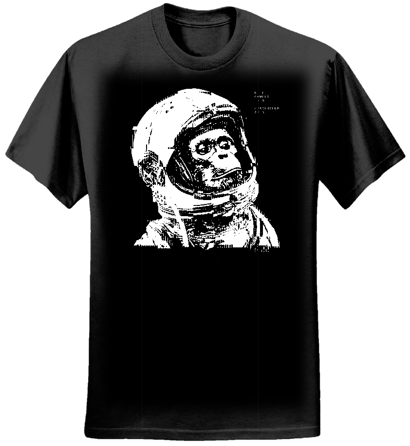 Spacebound Apes Black T shirt (Mens)