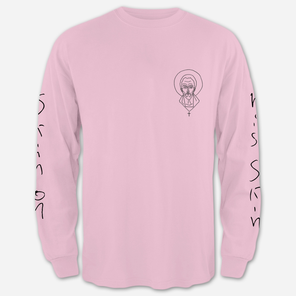 """Augustine"" Long Sleeve Tee, Pink"